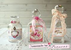 ♥ Homemade by Frences ♥: Brocante bottles (in Dutch).