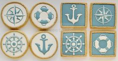 Nautical Cookies - Set of 8 Orange Vanilla Spice Cookies. $60.00, via Etsy.