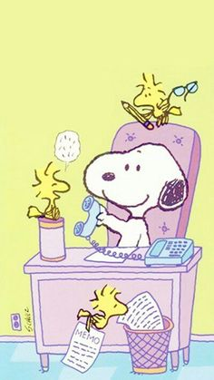 Snoopy at the office