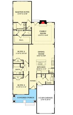 Single Story Open Floor Plans One Story 3 Bedroom 2 Bath French Traditional Style House