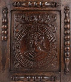 Mid 18th Century Carved Oak Romayne Panel