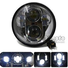 """33705 motorcycle-parts For Harley 5-3/4"""" 5.75"""" Motorcycle Projector Daymaker HID Chrome LED Head Light  BUY IT NOW ONLY  $125.49 For Harley 5-3/4"""" 5.75"""" Motorcycle Projector Daymaker HID Chrome LED Head Light..."""