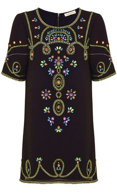 embellished black rhinestone party dress tunic - http://www.boomerinas.com/2013/11/19/the-6-trends-of-christmas-my-favorite-holiday-clothing-styles-2013/