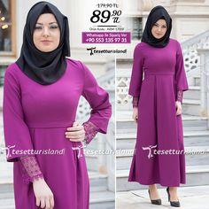 Aramiss - Kolları Dantelli Fuşya Elbise #tesettur #tesetturabiye #tesetturgiyim #tesetturelbise #tesetturabiyeelbise #kapalıgiyim #kapalıabiyemodelleri #şıktesetturabiyeelbise #kışlıkgiyim #tunik #tesetturtunik