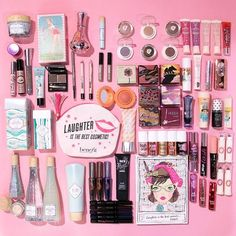 We're HAUL about ALL the makeup! Seriously, what would you do to get your pretty hands on all this Benefit product!? #benefit