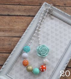 Super trendy chunky bubblegum necklaces in 36 styles! They complete an outfit and are great for photography props. Necklaces measure 16 inches long and use 1 inch thick beads.