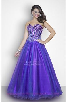 Ball Gown Purple Plus Size Dress