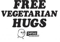 Hug a Vegetarian Day - vegeTARAian oct. 4th! Hahaha I'm proud to be a vegetarian :D