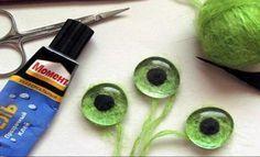 изготовление глаз из пряжи