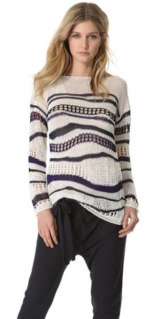 Jean Paul Gaultier Open Knit Sweater   SHOPBOP