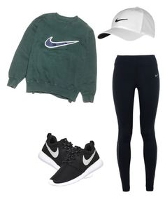 """NIKE inspired"" by jadaweyman on Polyvore featuring NIKE"