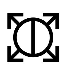 "Orbis epsilon - It uses previous symbols to create a new one: A round shape, divided in the middle (yin/yang), with spears (arrows) It's a symbol for War and a shield.  Epsilon is also the lowest of five castles in the novel ""Brave new World""  Small and circular formation of troops."