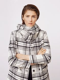 Stylein - Wooster Jacket in check Fall 2018, Turtle Neck, Coat, Check, Sweaters, Jackets, Fashion, Down Jackets, Moda