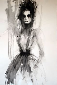 "Saatchi Online Artist: Fiona Maclean; Acrylic 2012 Painting ""Helene"""