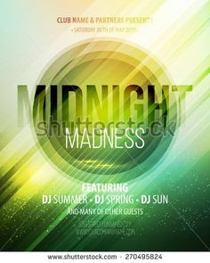 Midnight Madness Party. Template poster Vector illustration  - stock vector