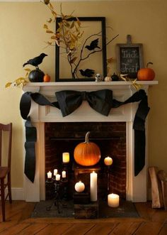 halloween mantelthese are the best homemade halloween decorations