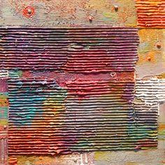 "Carey Corea, ""Pavilion of Eternity"", Encaustic on cradled panel, 16x16"