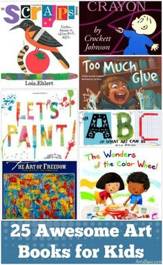Awesome Art Books for Kids 25 Art Books for Kids. or a bigger cart with a built in bookshelf. Art Books for Kids. or a bigger cart with a built in bookshelf. Art Books For Kids, Childrens Books, Art For Kids, Kid Books, Kids Fun, Preschool Books, Kindergarten Art, Preschool Art Lessons, Hand Kunst