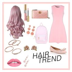 """Hair Trend- Pink"" by zamstyle ❤ liked on Polyvore featuring beauty, True Decadence, Salvatore Ferragamo, Yves Saint Laurent, Gucci, Herschel, LC Lauren Conrad, Les Néréides, Rebecca de Ravenel and BaubleBar"