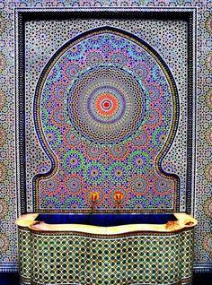 mosaik | farbige blaue Mosaik-Waschbecken