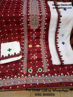 372ac60653 Find Latest Designs of Ajrak Embroidery Dress and Shirts, This Sindhi Ajrak  Dress is trending