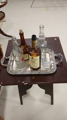 Wine set from the Pygmalion rehearsal set. Scenic design by Annie Smart.