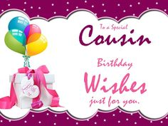 Happy Birthday Wishes For Cousin Pictures Female