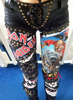 Iron Maiden Blood Splat Pants - My Little Halo http://mylittlehalo.com/metal-clothing-collection