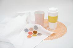 Tea Towel Embroidery | Karen Barbé | Textileria: Taller de bordado