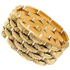 Retro_Gold_Bracelet | New York Estate Jewelry | Israel Rose