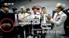 Jealous Kookie (somehow i feel like Taehyung was warming up seungkwan's hand) | allkpop Meme Center