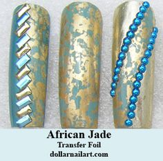 Versatile and beautiful! Transfer Foil, Nail Art Supplies, Jade, African, Turquoise, Beautiful, Design