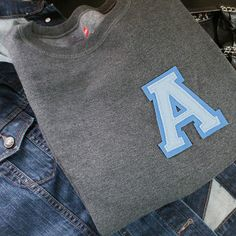 Varsity Style DIY - turn any shirt or jacket instantly preppy with a varsity letter!