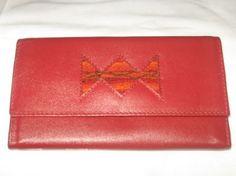 Große rote #Geldtasche mit vielen Fächern. Inca Sign aus #Peru