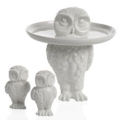 Woodland Owl Stand -or S & P. They will add a touch of whimsy to your kitchen!--Concept Candie Interiors now offers e-design services and custom mood boards for only $200 per room!