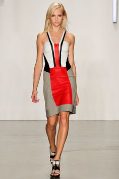 Helmut Lang Spring/Summer 2013.  I'm a big fan of color blocks.  This is a fresh version of that trend that's fun and wearable yet sophisticated and classic.