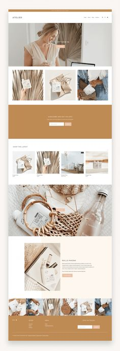 Atelier a modern, fun, easy-to-customize Squarespace Template for creative small business owners. #Squarespace #SquarespaceTemplate #templateKit #Business #Coaches #Marketers #Bloggers