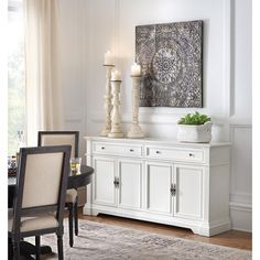 Windham 2 Door Accent Buffet Cabinet with Shelves Threshold