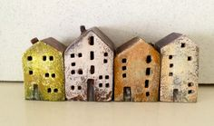 miniature ceramic houses