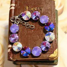 Lavender  Purple Passion Bracelet 12mm Bold by OhMyBlingAndThings