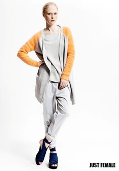 13 Just Female mandarin knit cardigan spring 2014