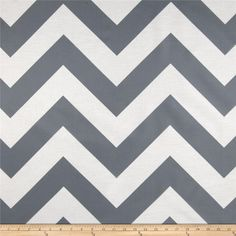 RCA Chevron Sheers Graphite from @fabricdotcom  This screen printed semi sheer fabric is very lightweight and perfect for window treatments. Colors include grey and white. Made in the USA.