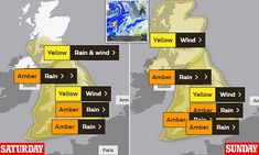 Met Office RAISES threat levels of storm on warpath to Britain North Scotland, West Coast Scotland, Uk Weather, Severe Weather, South East England, South Wales, Flooded Roads, Weather Warnings