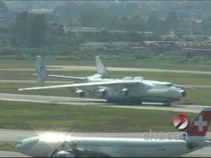 Antonov 225 Mriya, o Maior do Mundo no Brasil - Pouso filmado da Torre d...