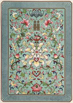Jones, Owen, / Examples of Chinese ornament selected from objects in … Chinese Design, Asian Design, Chinese Art, Chinese Prints, Chinese Style, Textures Patterns, Fabric Patterns, Print Patterns, Textile Design