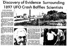 A Pleiadian Testimony  / Return To The Ancient Paths: 1897 Aurora Texas- Another UFO Crash- Newspaper Ar...