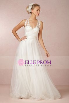 Prom Dresses Wedding Dress V Neck Lace Bodice Pick Up Tulle Skirt With Sash Court Train , You will find many long prom dresses and gowns from the top formal dress designers and all the dresses are custom made with high quality V Neck Wedding Dress, Wedding Dresses 2014, Prom Dresses, Tulle Wedding, Black Friday Dresses, Designer Formal Dresses, Wedding Dress Accessories, Lace Bodice, Gowns