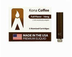 Volcano e-cigarette USA-Made MAGMA Prefilled Cartomizers - Kona Coffee, www.powersmoke.com Kona Coffee, Usa, How To Make, U.s. States