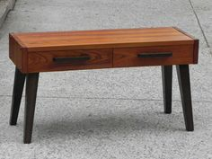 In NYC? We offer complimentary delivery to the 5 boroughs.  This compact solid wood entryway bench/table is a custom piece made from upcycled and new