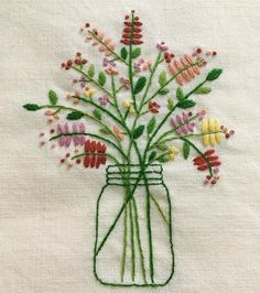 Wonderful Ribbon Embroidery Flowers by Hand Ideas. Enchanting Ribbon Embroidery Flowers by Hand Ideas. Crewel Embroidery Kits, Hardanger Embroidery, Japanese Embroidery, Learn Embroidery, Silk Ribbon Embroidery, Hand Embroidery Designs, Vintage Embroidery, Embroidery Thread, Embroidery Ideas
